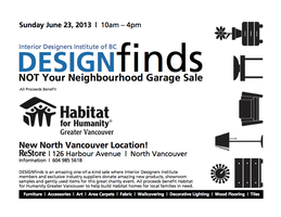 DESIGNfinds Not Your Neighbourhood Garage Sale