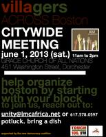 VILLAGERS ACROSS BOSTON CITYWIDE MEETING