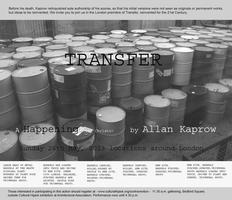 Allan Kaprow -  Transfer (Participatory event)