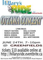 Hillary's Ride Ottawa Concert