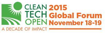 2015 Cleantech Open Global Forum