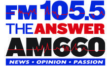 FM 105.5 - AM 660 The ANSWER logo