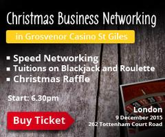 PBlink Christmas Networking in St Giles Casino