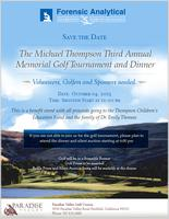 The Michael Thompson Third Annual Memorial Golf Tournament and...