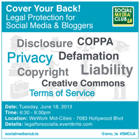 Cover Your Back! Legal Protection for Social Media & Bloggers