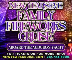 New Year's Eve Family Fireworks Cruise aboard the Audubon Yacht