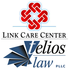 Telios Law PLLC and Link Care Center logo