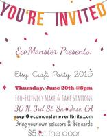 Etsy Craft Party: San Jose, CA - $5 at the door