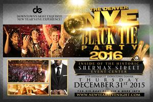Denver New Year's Eve Black Tie Party 2016