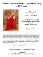 Classic American Belly Dance Workshop with Amara
