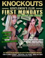 "FIRST MONDAYS at KNOCKOUTS Gentlemen's Club are ""Make it Rain..."