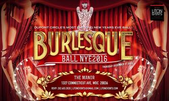 New Years Eve 2017: NYE BURLESQUE BALL: at The Manor...