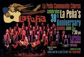 La Peña Chorus performing for La Peña's 38th...