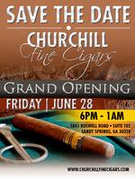 CHURCHILL FINE CIGARS GRAND OPENING