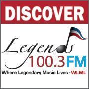 Legends Radio 100.3 FM / Dick Robinson Entertainment LLC logo