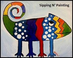 Summertime KIDS! Sip N' Paint Chameleon Friday June 28th, 10:30am