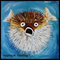 Summertime KIDS! Sip N' Paint Puffer Fish Wednesday...