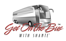 GET ON THE BUS WITH SHANTE' INC logo