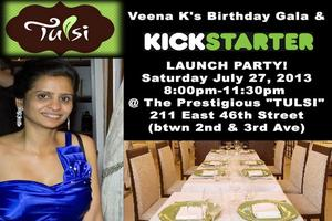 KICKSTARTER LAUNCH PARTY & BIRTHDAY GALA FOR VEENA K. @ THE 5...
