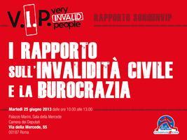 Rapporto SonoUnVip - I Rapporto sull'invalidità civile...