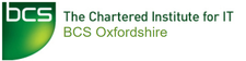 Oxfordshire Branch of the BCS The Chartered Institute for IT logo
