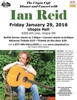 The Utopia Cafe Dinner and Concert with Ian Reid