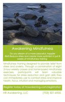 Awakening Mindfulness - 8 week stress reduction course