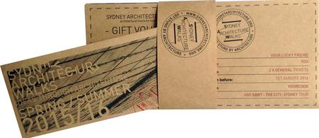 SAW 2 - Utzon.  Gift Vouchers
