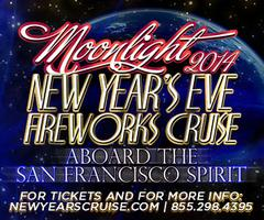 Moonlight NYE  Fireworks Cruise 2014 Aboard the San Francisco...