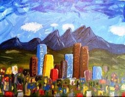 Sip N' Paint Denver Skyline: Saturday August 3rd,...
