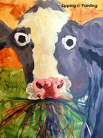 Sip N' Paint Cow: Saturday August 24th, 7:30pm