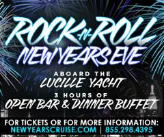 Rock 'n' Roll New Year's Eve Fireworks Cruise Aboard the Lucille...