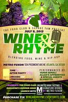 The Food Club and Savage Fam Presents: Wine & Rhyme