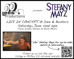 "Dave and Busters Hosts ""Lees Productions Presents Stefany Mayz..."