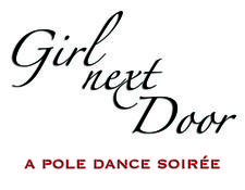 Girl Next Door - a pole dance soirée logo