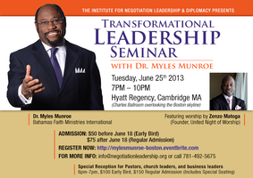 An Evening with Dr. Myles Munroe - Transformational Leadership...