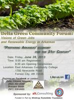 Delta Green Community Forum:  Visions of Green Jobs...