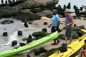 Kayaking at Stuyvesant Cove