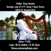Phillip King Harpist 777 show