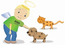 """AMA ANIMAL RESCUE -""""ANGELS FOR MISTREATED ANIMALS""""  logo"""