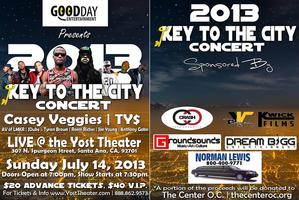 2013 KEY TO THE CITY CONCERT