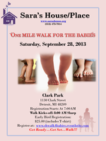 """Sara's House/Place """"One Mile Walk for the Babies"""""""
