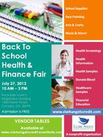 CLARK ANGELS BACK TO SCHOOL/HEALTHCARE FAIR