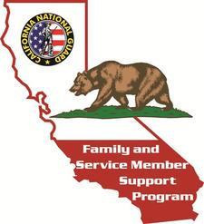 CA National Guard Family and Service Member Support Program logo