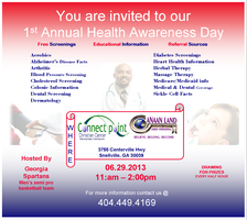 !st Annual Health Awareness Day (Health Fair)