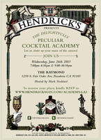 Hendricks Peculiar Cocktail Academy