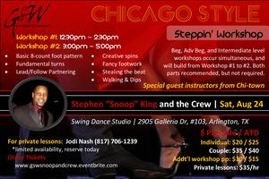 Chicago-Style Steppin' Workshop by Chi-town native,...