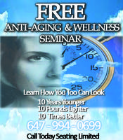 FREE Anti-Aging And Wellness Seminars
