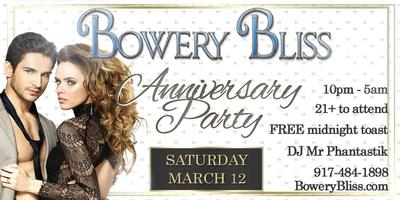 Bowery Bliss' Anniversary Party