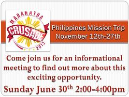 Marantha Crusade-Philipines Informational Meeting